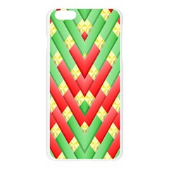 Christmas Geometric 3d Design Apple Seamless iPhone 6 Plus/6S Plus Case (Transparent)