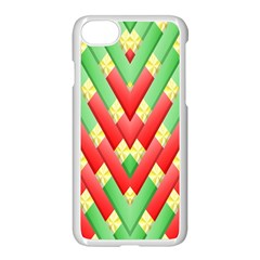 Christmas Geometric 3d Design Apple Iphone 7 Seamless Case (white)