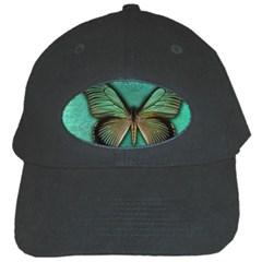 Butterfly Background Vintage Old Grunge Black Cap