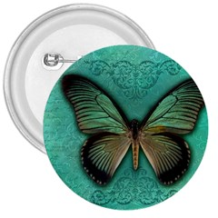 Butterfly Background Vintage Old Grunge 3  Buttons