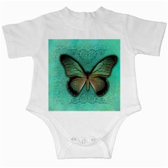 Butterfly Background Vintage Old Grunge Infant Creepers