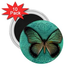 Butterfly Background Vintage Old Grunge 2 25  Magnets (10 Pack)