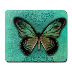Butterfly Background Vintage Old Grunge Large Mousepads