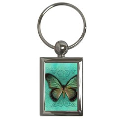 Butterfly Background Vintage Old Grunge Key Chains (Rectangle)