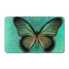 Butterfly Background Vintage Old Grunge Magnet (rectangular)