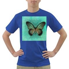 Butterfly Background Vintage Old Grunge Dark T Shirt