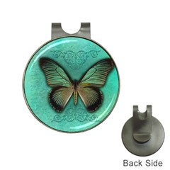 Butterfly Background Vintage Old Grunge Hat Clips With Golf Markers
