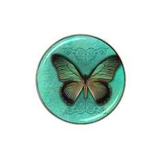 Butterfly Background Vintage Old Grunge Hat Clip Ball Marker