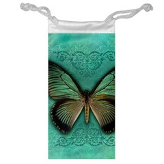 Butterfly Background Vintage Old Grunge Jewelry Bag