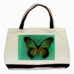 Butterfly Background Vintage Old Grunge Basic Tote Bag