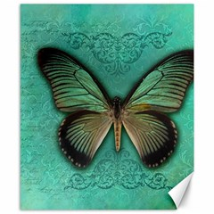Butterfly Background Vintage Old Grunge Canvas 8  x 10