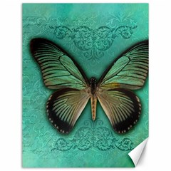 Butterfly Background Vintage Old Grunge Canvas 12  X 16