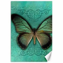 Butterfly Background Vintage Old Grunge Canvas 12  X 18