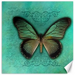 Butterfly Background Vintage Old Grunge Canvas 16  X 16