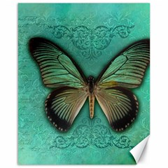 Butterfly Background Vintage Old Grunge Canvas 16  x 20