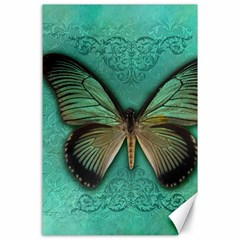 Butterfly Background Vintage Old Grunge Canvas 24  X 36