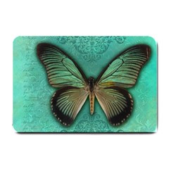 Butterfly Background Vintage Old Grunge Small Doormat
