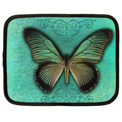 Butterfly Background Vintage Old Grunge Netbook Case (large)