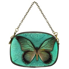 Butterfly Background Vintage Old Grunge Chain Purses (one Side)