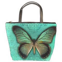 Butterfly Background Vintage Old Grunge Bucket Bags
