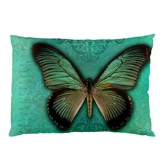Butterfly Background Vintage Old Grunge Pillow Case