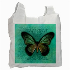 Butterfly Background Vintage Old Grunge Recycle Bag (one Side)