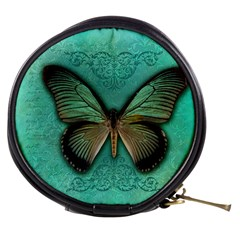 Butterfly Background Vintage Old Grunge Mini Makeup Bags