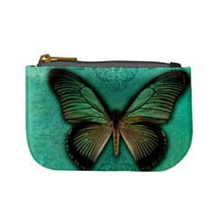 Butterfly Background Vintage Old Grunge Mini Coin Purses