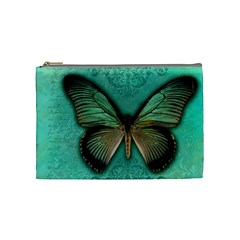 Butterfly Background Vintage Old Grunge Cosmetic Bag (medium)