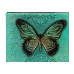 Butterfly Background Vintage Old Grunge Cosmetic Bag (xl)