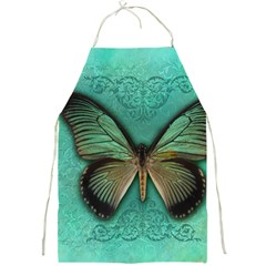 Butterfly Background Vintage Old Grunge Full Print Aprons