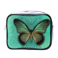 Butterfly Background Vintage Old Grunge Mini Toiletries Bags