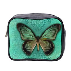 Butterfly Background Vintage Old Grunge Mini Toiletries Bag 2 Side