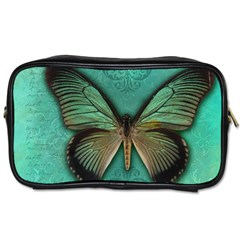 Butterfly Background Vintage Old Grunge Toiletries Bags 2 Side