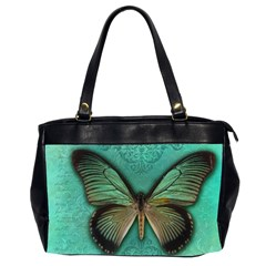 Butterfly Background Vintage Old Grunge Office Handbags (2 Sides)