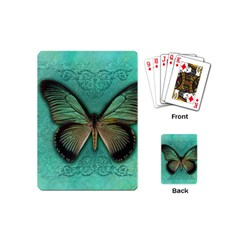 Butterfly Background Vintage Old Grunge Playing Cards (mini)