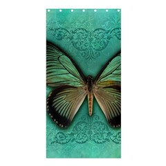 Butterfly Background Vintage Old Grunge Shower Curtain 36  X 72  (stall)