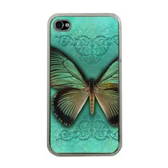Butterfly Background Vintage Old Grunge Apple Iphone 4 Case (clear)