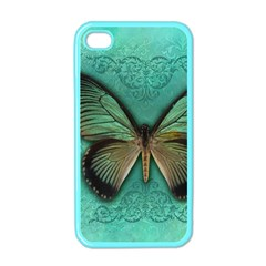 Butterfly Background Vintage Old Grunge Apple Iphone 4 Case (color)