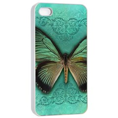Butterfly Background Vintage Old Grunge Apple Iphone 4/4s Seamless Case (white)