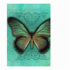 Butterfly Background Vintage Old Grunge Small Garden Flag (two Sides)