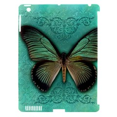 Butterfly Background Vintage Old Grunge Apple Ipad 3/4 Hardshell Case (compatible With Smart Cover)