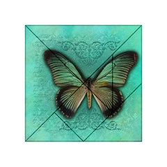 Butterfly Background Vintage Old Grunge Acrylic Tangram Puzzle (4  X 4 )