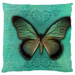 Butterfly Background Vintage Old Grunge Large Cushion Case (two Sides)