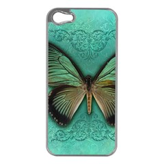 Butterfly Background Vintage Old Grunge Apple Iphone 5 Case (silver)