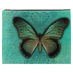 Butterfly Background Vintage Old Grunge Cosmetic Bag (xxxl)