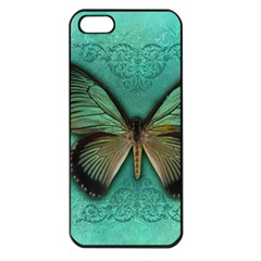 Butterfly Background Vintage Old Grunge Apple Iphone 5 Seamless Case (black)