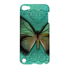 Butterfly Background Vintage Old Grunge Apple Ipod Touch 5 Hardshell Case