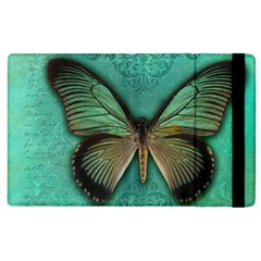Butterfly Background Vintage Old Grunge Apple Ipad 3/4 Flip Case