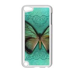 Butterfly Background Vintage Old Grunge Apple Ipod Touch 5 Case (white)